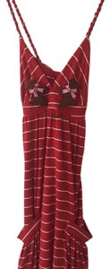 Voom by Joy Han short dress Red Striped Stripe on Tradesy