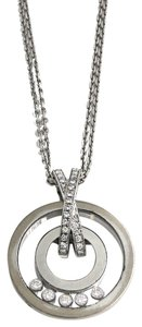 Chopard Chopard 18K White Gold Happy Diamond Necklace 796249