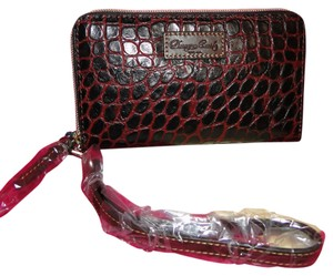Dooney & Bourke Campbell Leather Croc Emb Wallet/Wristlet