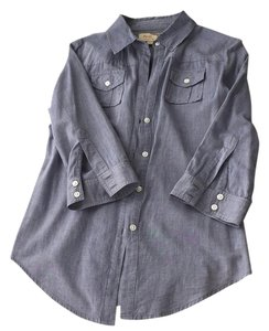Elizabeth and James Chambray Chambray Button Up Button Down Shirt Denim