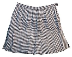Briggs Pleated Mini Skirt Black and white