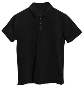 Sandro Cotton Mens Polo Top Black