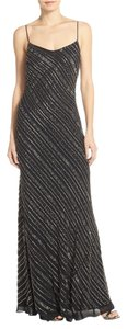 Adrianna Papell Spaghetti Strap Beaded Chiffon Sheath Dress