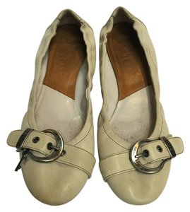 Dior Leather Vintage Cream with Buckle Flats