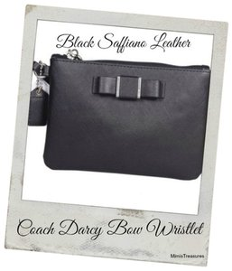 Coach Coach Darcy Bow Saffiano Leather Wristlet