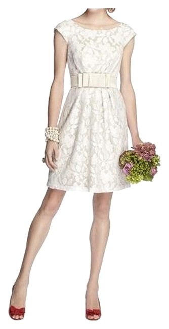 Dessy Passion / Ivory 5704 Short Night Out Dress Size 16 (XL, Plus 0x) Dessy Passion / Ivory 5704 Short Night Out Dress Size 16 (XL, Plus 0x) Image 1
