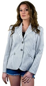 St. John Sport Jacket Pin Stripe Black And White Blazer