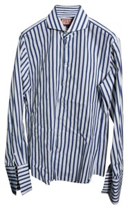Thomas Pink Mens Dress Shirt Top Blue