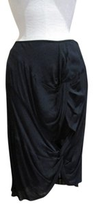 Bruce Pencil Knots Draping Skirt Black