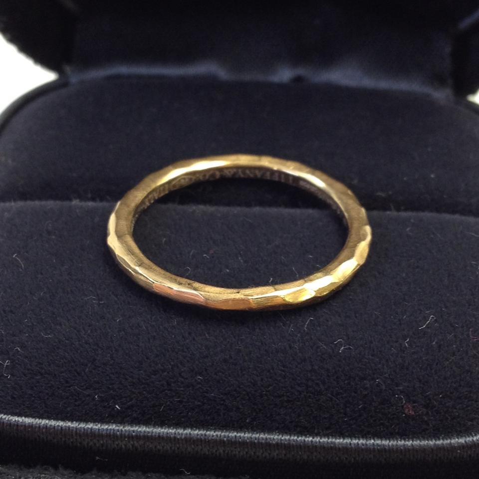 c07a714fc Tiffany & Co. #5936 Paloma Picasso Hammered 18k rose Gold Band wedding band  ring ...