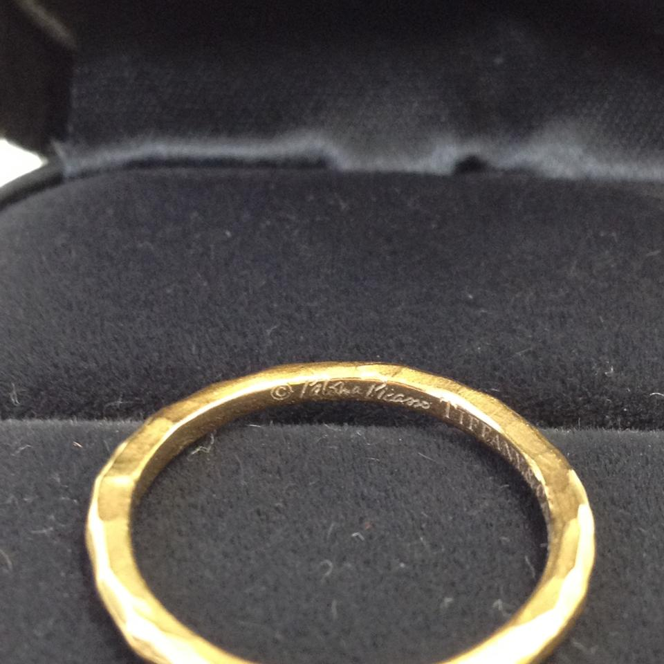 1a96aeb1f Tiffany & Co. #5936 Paloma Picasso Hammered 18k rose Gold Band wedding band  ring. 12345678910