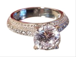 Gorgeous CZ Stainless Steel Ring Size 7