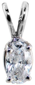 ABC Jewelry Oval shape diamond solitaire pendant