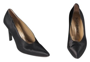 Saint Laurent Satin Black Pumps