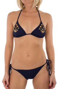 Balmain New Balmain Paris Triangle String 2 Piece Bikini Navy Gemstones IT 46