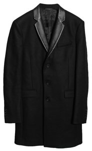 The Kooples Wool/leather Formal Black Blazer