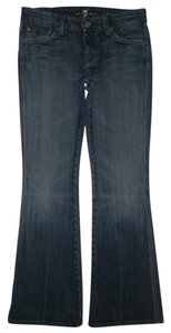 7 For All Mankind 5 Pocket Style Zip Fly A Pocket Cotton/spandex Boot Cut Jeans-Medium Wash