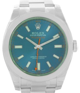 Rolex Rolex Milgauss Blue Dial Green Crystal Mens Watch 116400GV Unworn