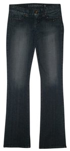 Guess 5 Pocket Style Zip Fly Daredevil Cotton/spandex Boot Cut Jeans-Dark Rinse