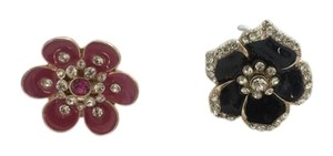 Charlotte Russe / Forever 21 NWT Lot X 2 Charlotte Russe and Forever 21 Flower Statement Rings - Black, Fuchsia, Gold, Rhinestone, Size 6 and 7