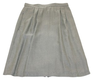 Business Pockets Lined Skirt Black and white
