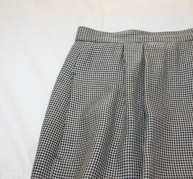 Other Business Pockets Lined Skirt Black and white