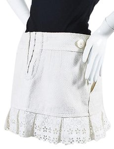 Louis Vuitton Textured Mini Skirt White