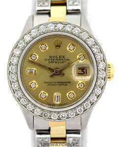 Rolex LADIES ROLEX DATEJUST 4CT DIAMOND WATCH WITH ROLEX BOX & APPRAISAL
