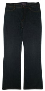 NYDJ 5 Pocket Style Zip Fly Boot Cut Jeans-Dark Rinse