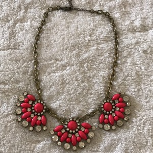 BaubleBar BaubleBar Pink and Clear Rhinestone Necklace