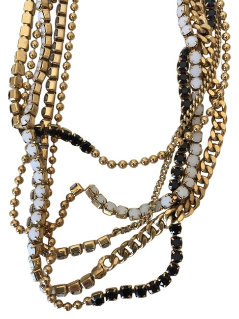 Item - Gold-multi Multi-chain Gold Necklace