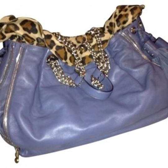 Preload https://img-static.tradesy.com/item/146694/henri-bendel-blue-with-leopard-print-leather-shoulder-bag-0-0-540-540.jpg