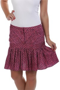 See by Chloé Chloe Made In Italy Chloe Silk Flounce Mini Skirt Purple Navy