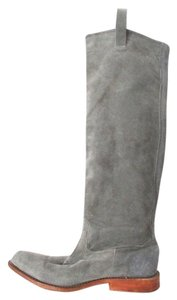 Jim Barnier Suede Knee-high Classic Gray Boots