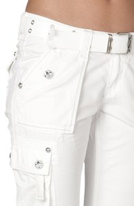Rock Revival New Cargo Capri/Cropped Pants White