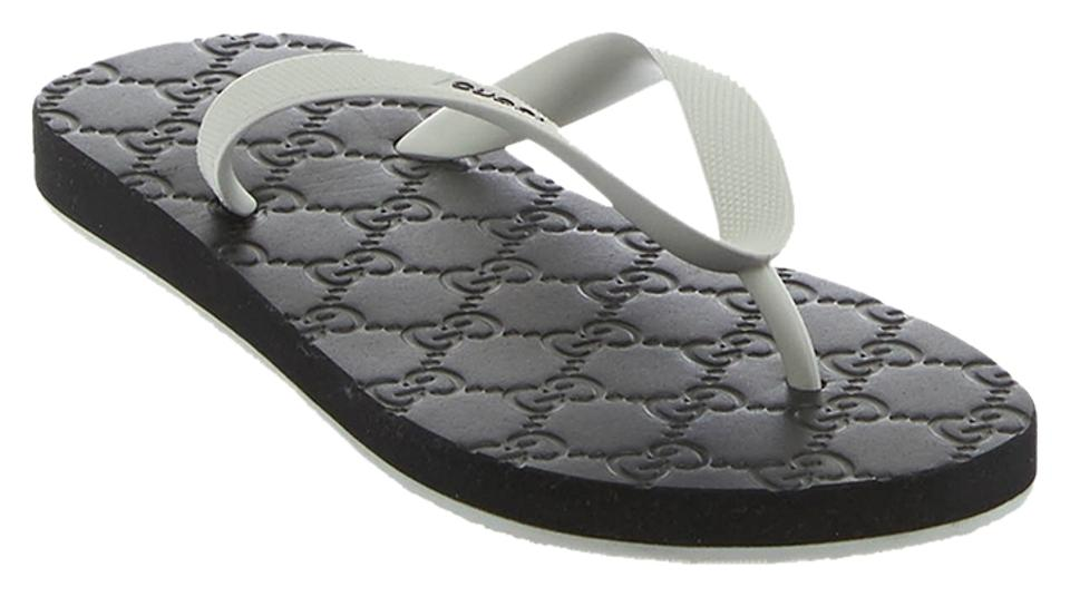 fb6eca67f Gucci Black Gray Women s   Rubber Guccissima Flip Flop (23039 ...