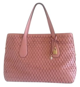 Henri Bendel Satchel Oversized Leather Tote in Pink