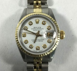 Rolex 18k Gold and Stainless Steel Rolex Datejust