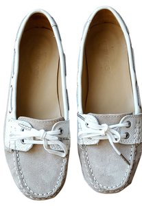 3be4c4e35a1b Sebago Kate Middleton Moccasin Royal Preppy Boat Taupe Suede  White Flats