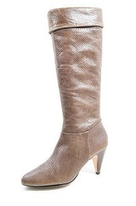 6970d60311f Twelfth St. by Cynthia Vincent Green Brown Dylan In Snake Leather Knee High  Olive Boots