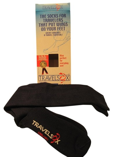 TravelSox TravelSox; Essential Unisex Socks for Travelers (Womens Size 11 & Up/ Men's Size 10-13)--Navy - [ Roxanne Anjou Closet ]