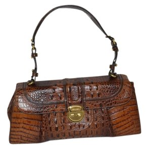 Brahmin Satchel in pecan melbourne