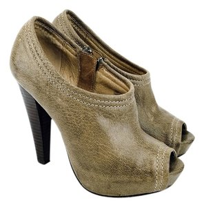 Frye Peep Toe Ankle Ankle Pumps Taupe Boots