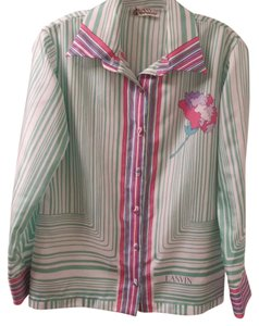 Lanvin Button Down Shirt Multicolor