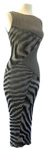 Vivienne Tam Bodycon Pleated Cocktail Kitten Vintage Dress