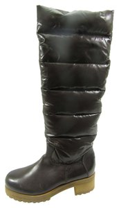 Moncler Clermont Snow After-ski Quilted Dark Brown Boots