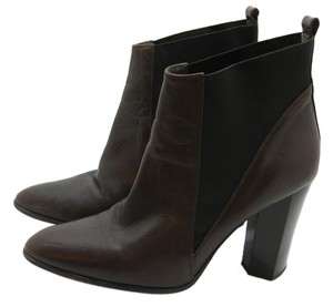 Diane von Furstenberg Ankle Brown Leather Heels Winter Fashion Dark Brown Boots