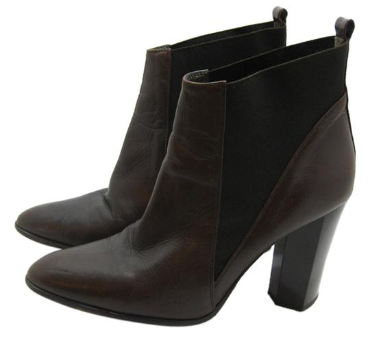 Diane von Furstenberg Ankle Leather Heels Winter Fashion Dark Brown Boots
