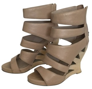 Donald J. Pliner Beige Wedges