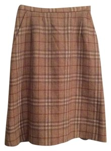 Burberry Skirt Beige Plaid